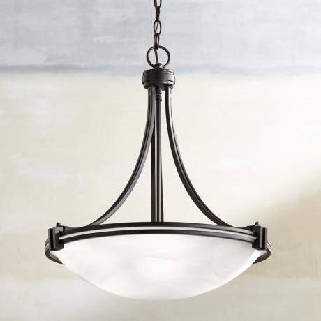 "Possini Euro Deco Bronze 20 1/2"" Wide Pendant Chandelier"