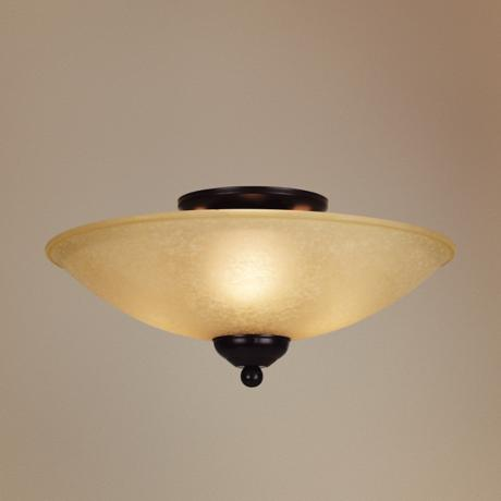 "San Dimas Collection Bronze 14"" Wide Ceiling Light Fixture"