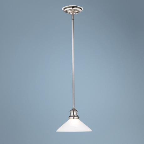 Marbleized Glass Pewter Finish Mini Pendant  Chandelier