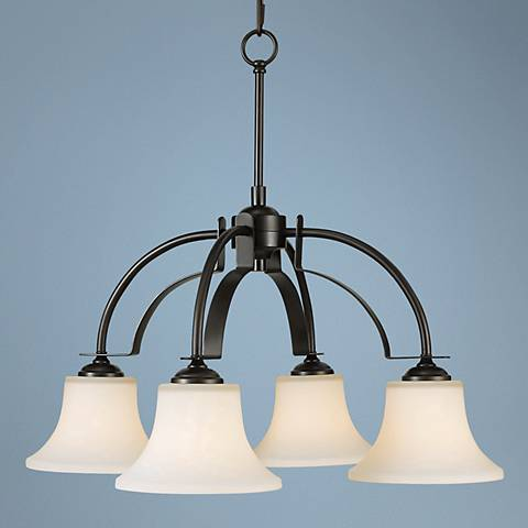 "Feiss Barrington Bronze 26"" Wide 4-Light Chandelier"