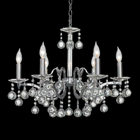 "Quatre Crystal Ball 24"" Wide Chandelier"