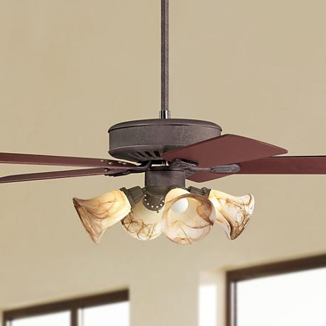 Casa Vieja® Windstar II™ Rust Finish Ceiling Fan