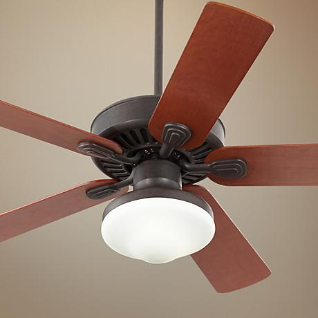Casa Vieja Windstar II Teak Blade Ceiling Fan with Light