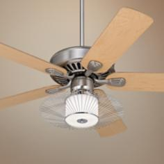 "52"" Windstar II™ Brushed Steel and Chrome Ceiling Fan"
