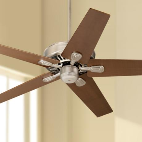 "52"" Windstar II™ Brushed Steel Walnut Ceiling Fan"