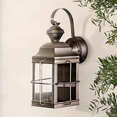 Carriage Nickel 14 3 4 High Motion Sensor Outdoor Light