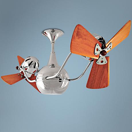 "44"" Matthews Vent Bettina Dual-Head Chrome Ceiling Fan"