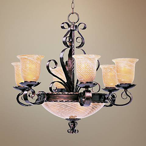 "Aspen Collection Two Tier 30"" Wide Bowl Chandelier"