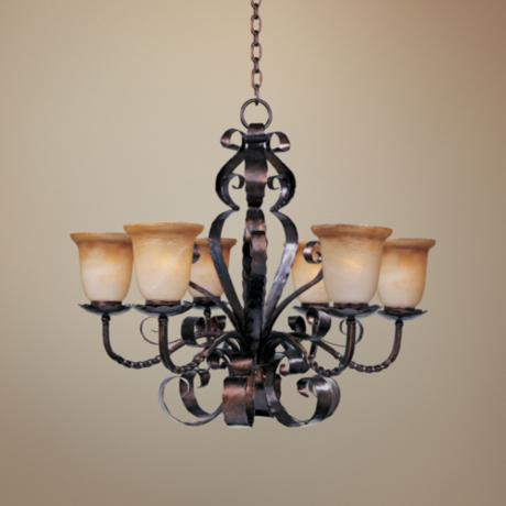 Aspen Collection 6 Light Single Tiered Chandelier