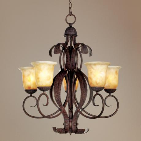 "High Country Collection 25"" Wide 5-Light Chandelier"