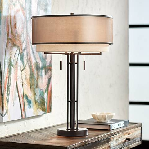 Fisher Galvanized Metal 28 3 4 Quot High Nightlight Table Lamp