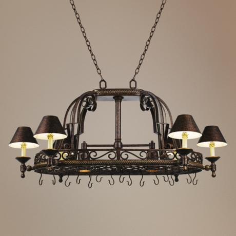 Kathy Ireland ACafe Tuscany Village Pot Rack Chandelier
