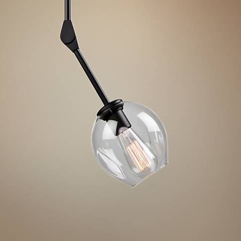 "Artcraft Organic 6 1/4"" Wide Black Mini Pendant"