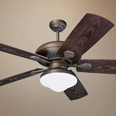54 Monte Carlo Shores Bronze Outdoor Ceiling Fan With