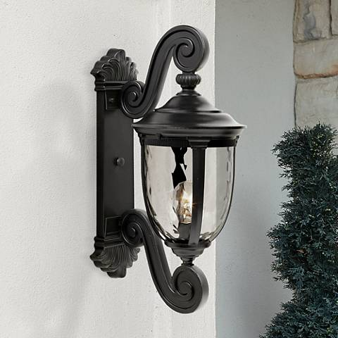 "Bellagio™ Collection 24"" High Black Outdoor Wall Light"