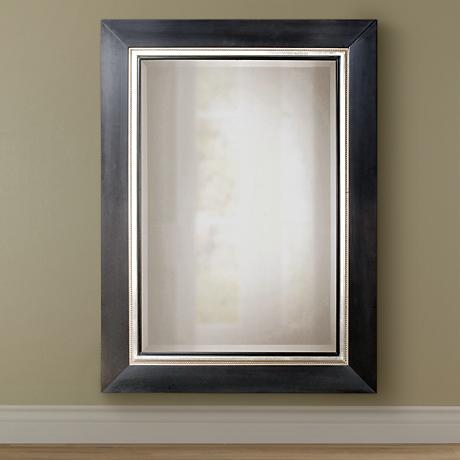 "Uttermost Whitmore 40"" x 54"" Black Large Mirror"