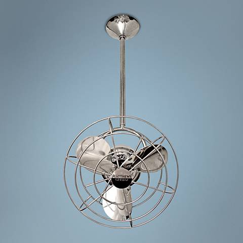"13"" Matthews Bianca Direcional Chrome Ceiling Fan"