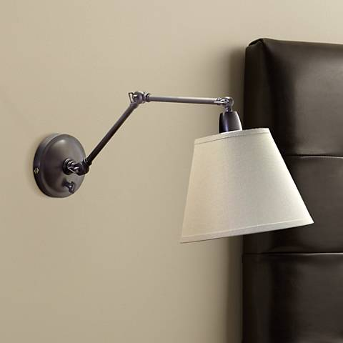delcourt plug in swing arm wall lamp 39381 lamps plus. Black Bedroom Furniture Sets. Home Design Ideas