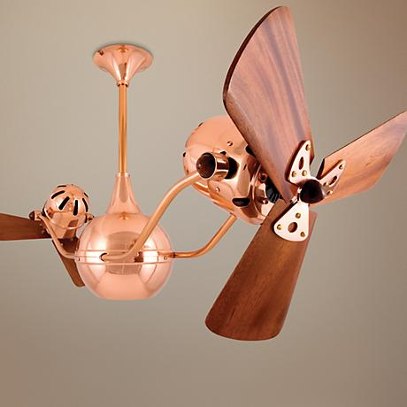 "44"" Vent Bettina Polished Copper Standard Ceiling Fan"