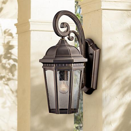 "Kichler Courtyard 17 3/4"" High Bronze Outdoor Wall Light"