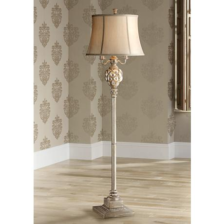 Olde 4-Light Floor Lamp with LED Night Light