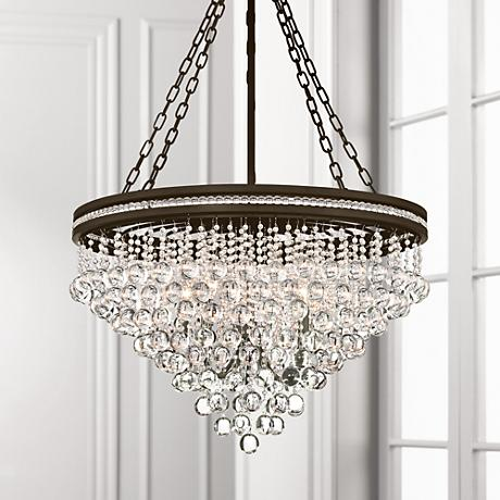 "Regina Sage 28"" Wide Crystal Chandelier"