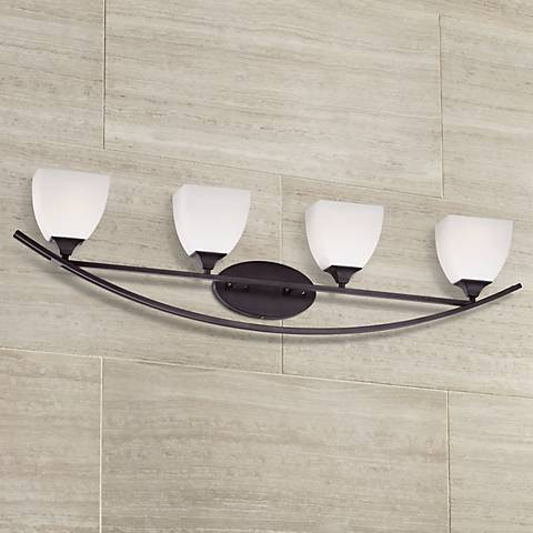 "Jenisen Arch 40 3/4"" Wide Bronze Bathroom Light"
