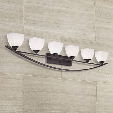 "Jenisen Arch 62 3/4"" Wide Bronze Bathroom Light"