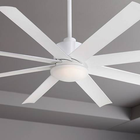 "65"" Minka Aire Slipstream White Outdoor Ceiling Fan"