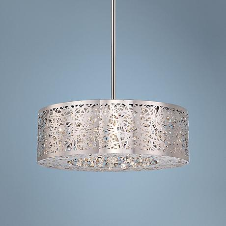 "George Kovacs 15"" Wide Chrome LED Pendant Chandelier"