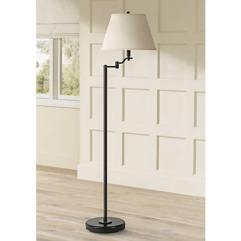 Stila Dark Bronze Swing Arm Floor Lamp