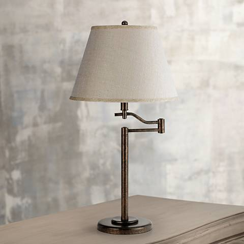 Stila Rust Swing Arm Table Lamp