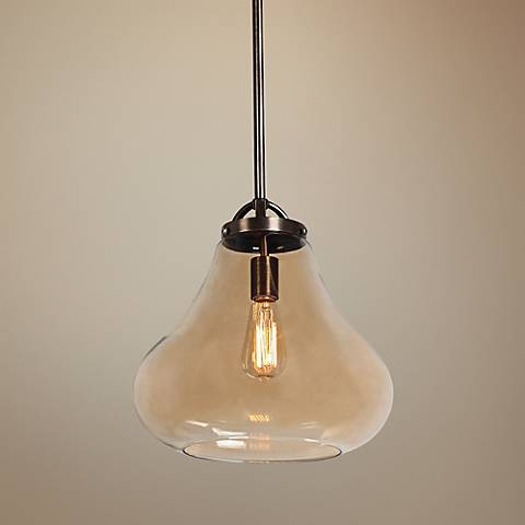 "Flux 13"" Wide Dark Bronze Pendant Light"