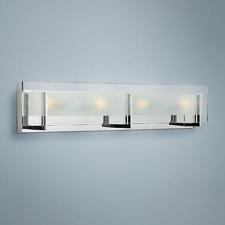 "Hinkley Latitude 26"" Wide Chrome Bathroom Light"