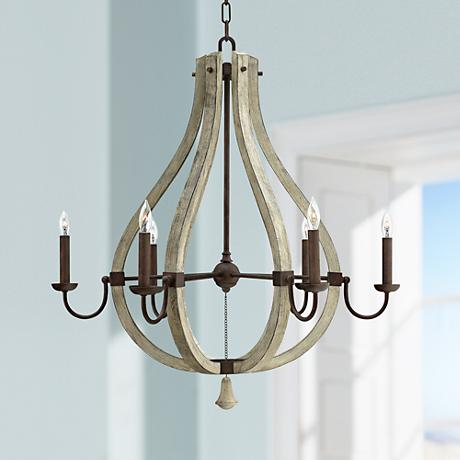 "Fredrick Ramond Middlefield 30"" Wide Iron Rust Chandelier"