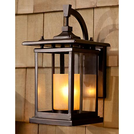 "Foxmoore Collection 14 1/2"" High Bronze Outdoor Wall Light"