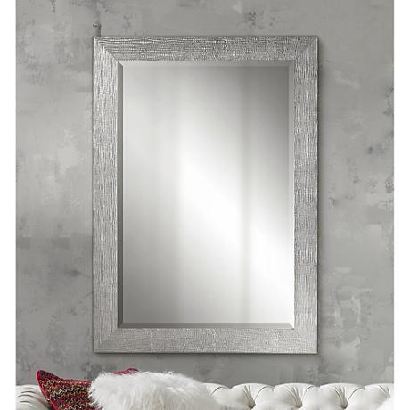 "Uttermost Tarek 42"" High Silver Decorative Wall Mirror"
