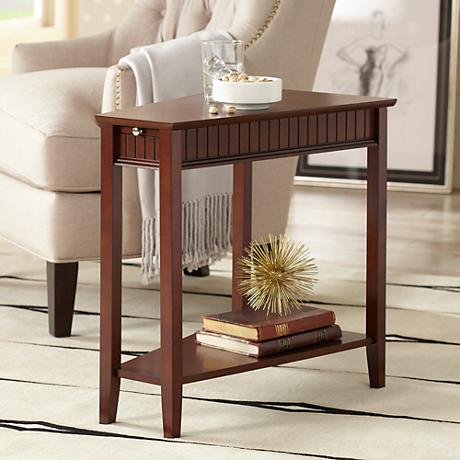 Bentley Maple Wedge Espresso Accent Table