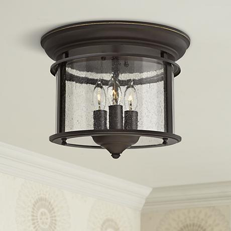 "Hinkley Gentry 11 1/2"" Wide Olde Bronze Ceiling Light"