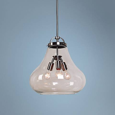 "Access Flux Collection 15"" Antique Nickel Pendant"