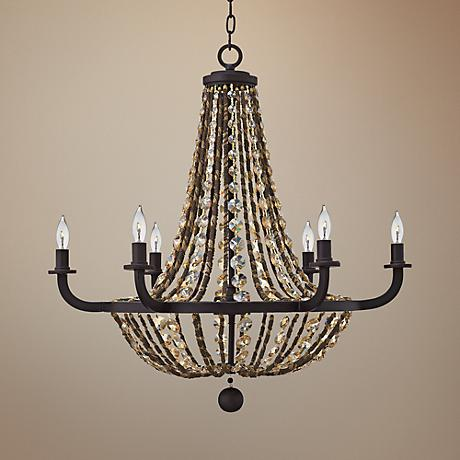 "Fredrick Ramond Hamlet 28"" Wide Bronze Chandelier"