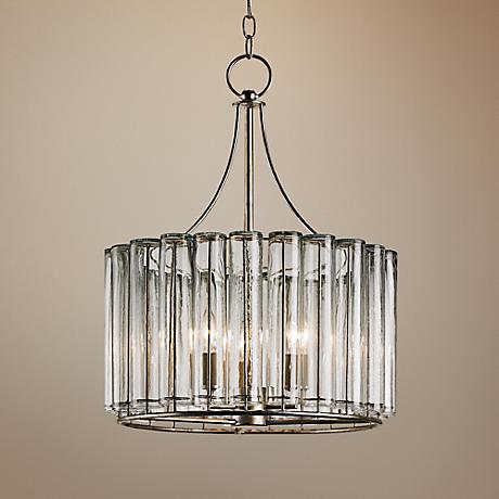 "Currey and Company Bevilaqua 18"" Wide Silver Chandelier"