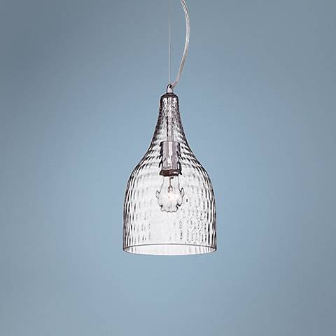 "Eurofase Altima 7 1/4"" Wide Clear Glass Chrome Mini Pendant"