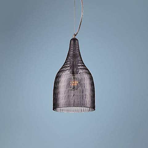 "Eurofase Altima 7 1/4"" Wide Smoked Glass Mini Pendant"