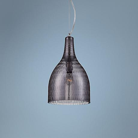 "Eurofase Altima 10"" Wide Large Smoke Glass Mini Pendant"