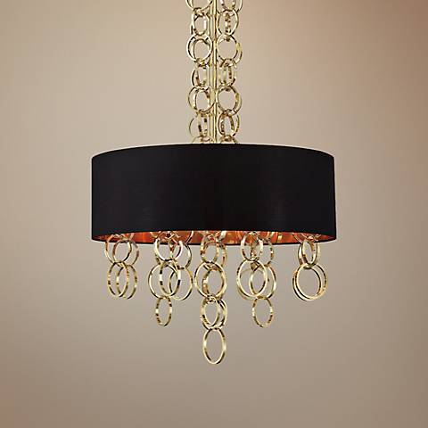 "Eurofase Novello 24"" Wide Black Gold Pendant"