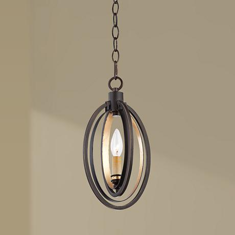 "Eurofase Infinity 7"" Wide Bronze and Gold Pendant"