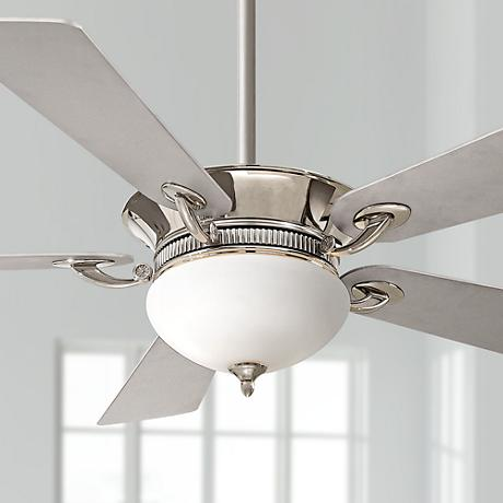 "52"" Minka Aire Delano™ Polished Nickel Ceiling Fan"