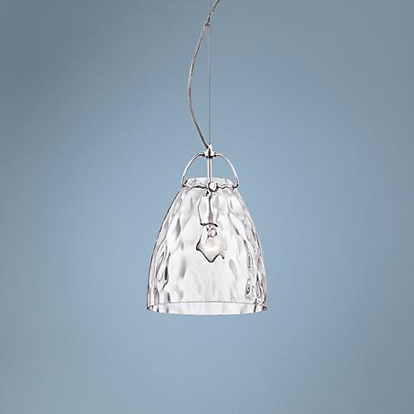 "Eurofase Amero 9 3/4"" Wide Clear Glass Chrome Pendant"