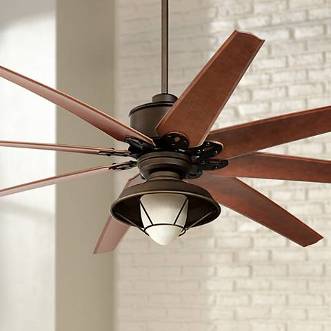 "72"" Predator Bronze Outdoor Ceiling Fan with Light Kit"